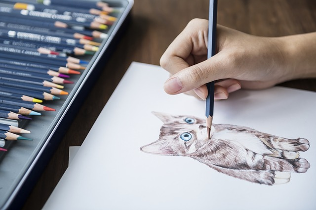 pencil shading techniques on cat