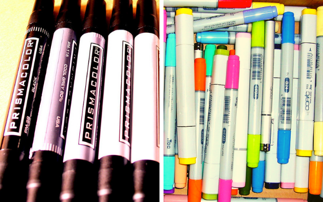 The Great Markers Debate: Prismacolor vs Copic Markers